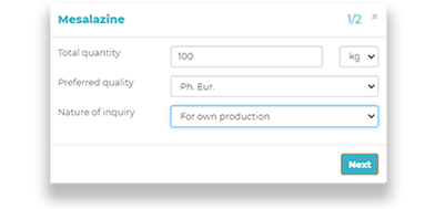 This is the Pharmaoffer inquiry form where you can send inquiries for APIs directly to the producer